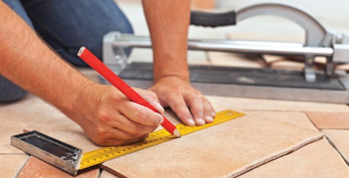 Measuring tile flooring